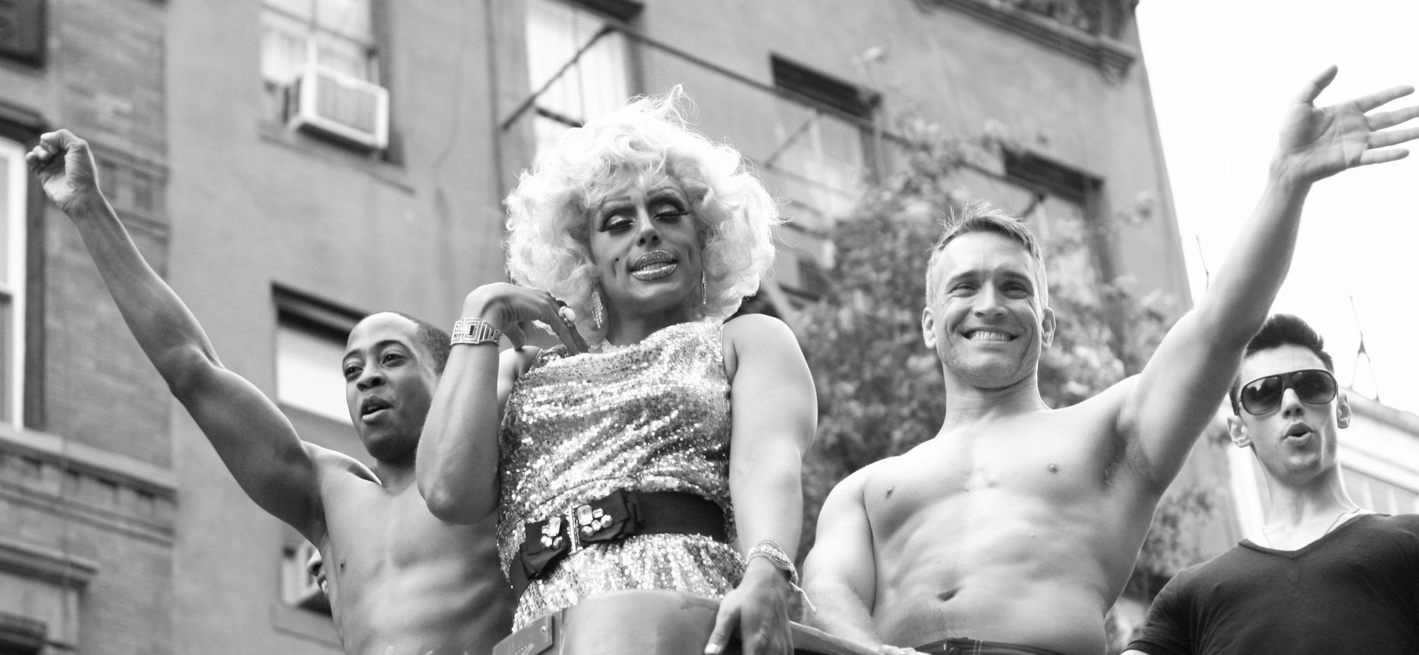 Foto van de New Yorkse Pride gemaakt in Greenwich Village